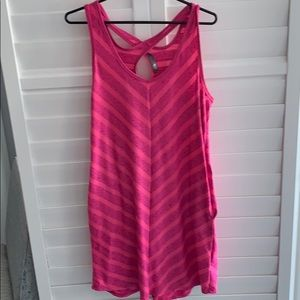 The North Face Pink Chevron Dress